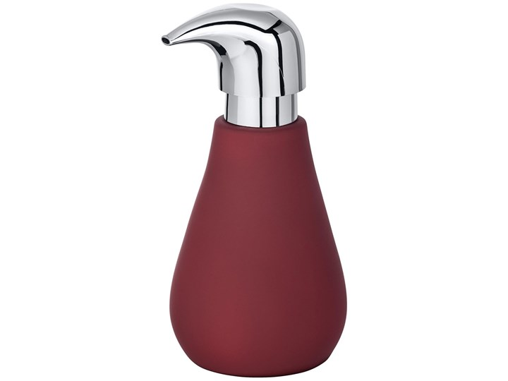 Dozownik do mydła Sydney Dark Red, ceramiczny, z pompką, powłoką Soft-Touch, do wielokrotnego napełniania, czerwony, 320 ml, marka WENKO Ceramika Dozowniki Ceramika