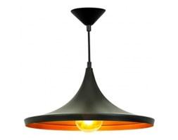 Lampa sufitowa wisząca HOME Edison Loft Gold złoty black kopuła czarny mat efektowne złote refleksy E27 LED