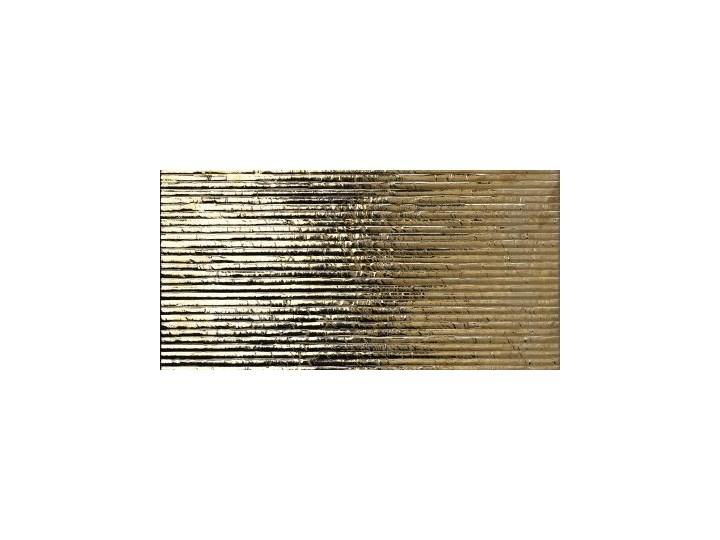 Tiffany Oro 33x60 złote płytki Płytka dekoracyjna 33x60 cm Prostokąt Płytki kuchenne Płytki ścienne Kolor Złoty Powierzchnia Polerowana