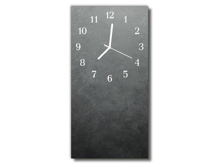 Zegar Szklany Pionowy Marmur ściana szary Kamień Prostokątny Zegar ścienny Kategoria Zegary Szkło Styl Nowoczesny