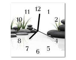 Zegar szklany kwadratowy Spa z kamieniami