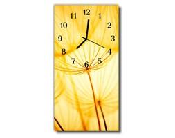Zegar Szklany Pionowy  Kwiaty Dmuchawiec żółty