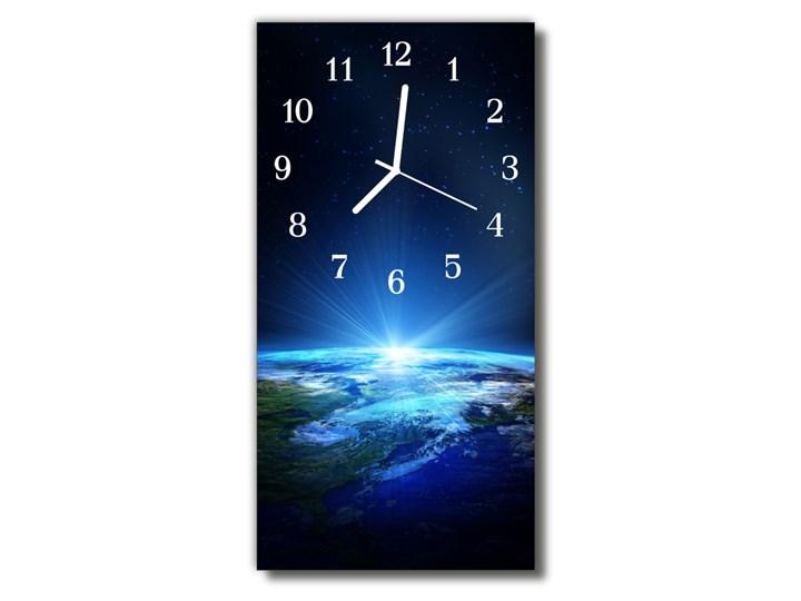 Zegar Szklany Pionowy Wszechświat Ziemia niebieski Prostokątny Zegar ścienny Szkło Kolor Granatowy