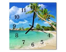 Zegar ścienny kwadrat Plażowe palmy