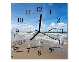 Zegar ścienny kwadrat Mewy plażowe