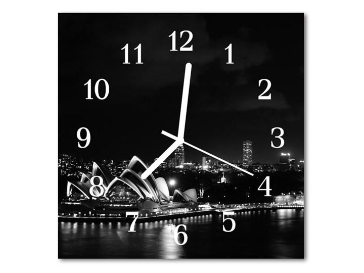 Zegar ścienny kwadrat Sydney Pomieszczenie Salon Szkło Kwadratowy Kategoria Zegary