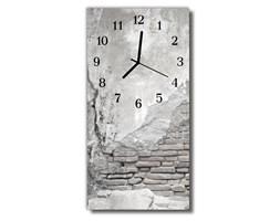 Zegar Szklany Pionowy Ściana szary