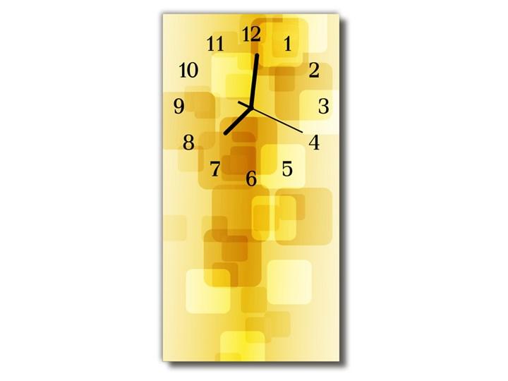 Zegar Szklany Pionowy Sztuka Złote prostokąty żółty Szkło Zegar ścienny Prostokątny Kategoria Zegary