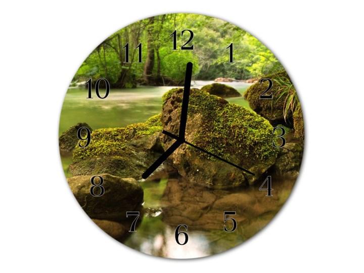 Zegar ścienny okrągły Rzeka Szkło Kolor Zielony