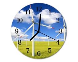 Zegar ścienny okrągły Wiatraki Pole