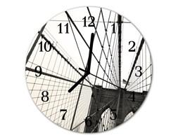 Zegar szklany okrągły Most Brookliński