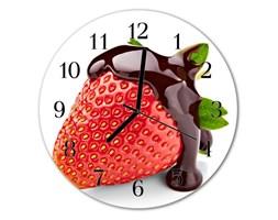 Zegar ścienny okrągły Truskawkowa czekolada