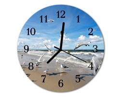 Zegar ścienny okrągły Mewy plażowe