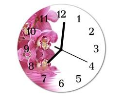 Zegar ścienny okrągły Storczyk