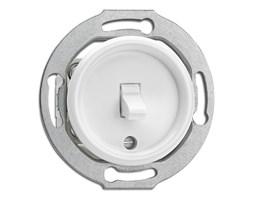 Wyłącznik dźwigniowy pojedynczy / schodowy THPG duroplast biały