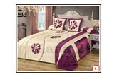 Narzuta na łóżko Elana 220x240 kremowo-fioletowa