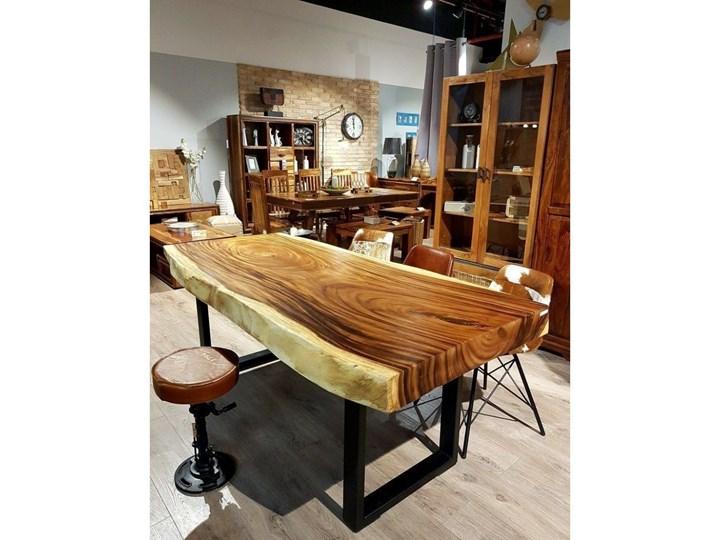 250cm OKAZAŁY stół drewniany jadalniany SUAR WOOD 250/~85-115. Waga ok. 200kg! Długość 110 cm  Długość 250 cm Drewno Stal Kolor Brązowy Kategoria Stoły kuchenne