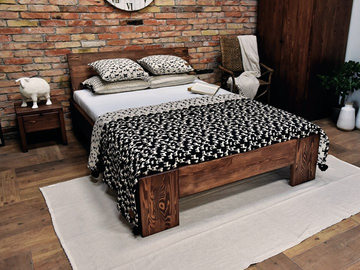 Łóżko Drewniane Sosnowe Marika II - 140 Kategoria Łóżka do sypialni Kolor Beżowy