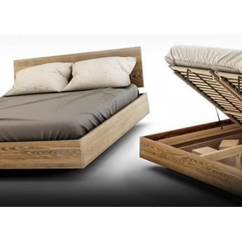 Ballega łóżko bukowe lewitujące 160x200 cm w kolorze jasny orzech