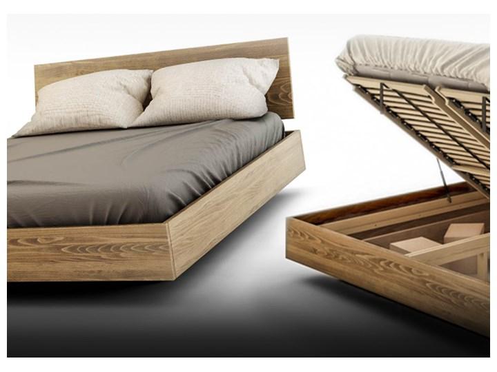 Ballega łóżko bukowe lewitujące 160x200 cm w kolorze jasny orzech Łóżko drewniane Pojemnik na pościel Z pojemnikiem