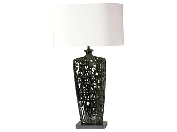MITAL-Lampa stojąca Metal & Tkanina Wys.82cm