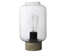 COLUMN-Lampa stojąca Beton & Szkło Wys.27cm