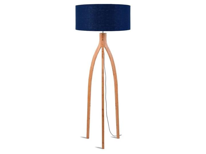 ANNAPURNA-Lampa podlogowa Statyw Bambus & Len Naturalny Wys.160cm