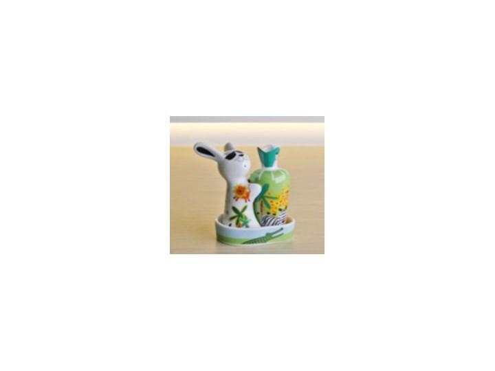 Porcelanowa solniczka i pieprzniczka - Królik w Dżungli Zestaw do przypraw Kategoria Przyprawniki Ceramika Kolor Wielokolorowy