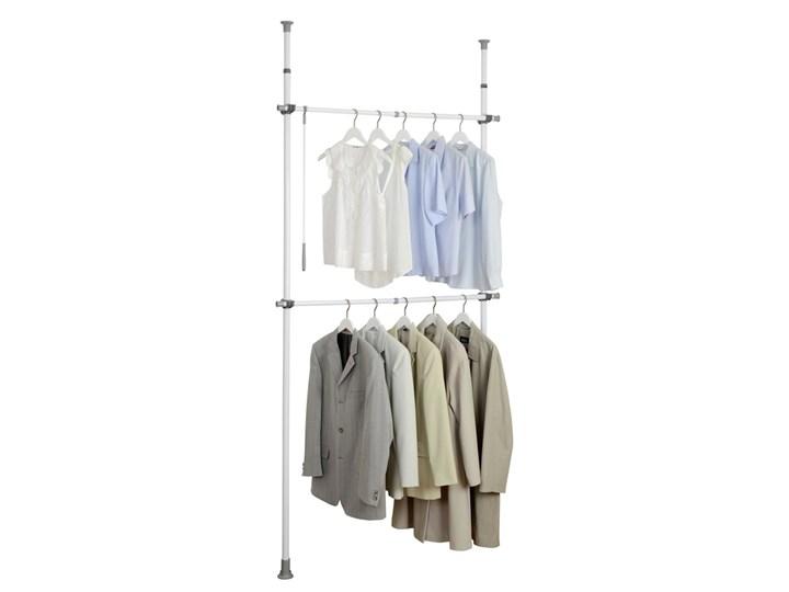Stelaż do wieszania ubrań Herkules Basic, garderoba, 2 poziomy, regulowana wysokość oraz szerokość, metalowy, biały, marka WENKO