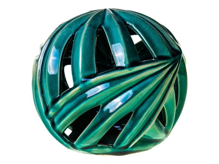 Ozdobna ceramiczna kula- zielone liście Ceramika Ceramika