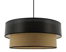 VINTAGE-Lampa wisząca z bawełny perforowany & Drewno Ø48cm