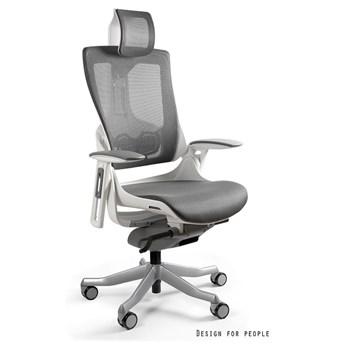 Fotel ergonomiczny Wau 2 biało - grafitowy