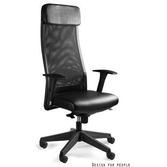 Krzesło biurowe Ares Soft z wysokim oparciem czarny