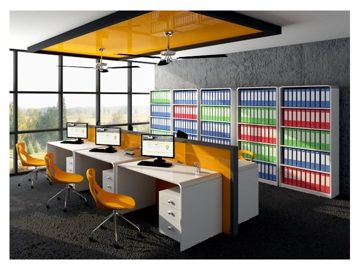Biurko w wysokim połysku Milano HGW