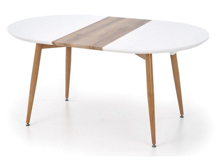 Rozkładany stół do salonu Edward dąb miodowy Stal Płyta MDF Długość 100 cm Rozkładanie Rozkładane Drewno Szerokość 100 cm Długość 120 cm  Długość 200 cm  Rozkładanie