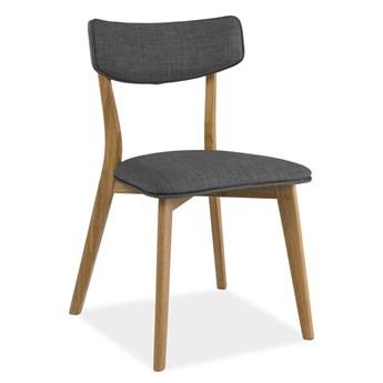 Krzesło Karl z tapicerowanym tkaniną siedziskiem i oparciem