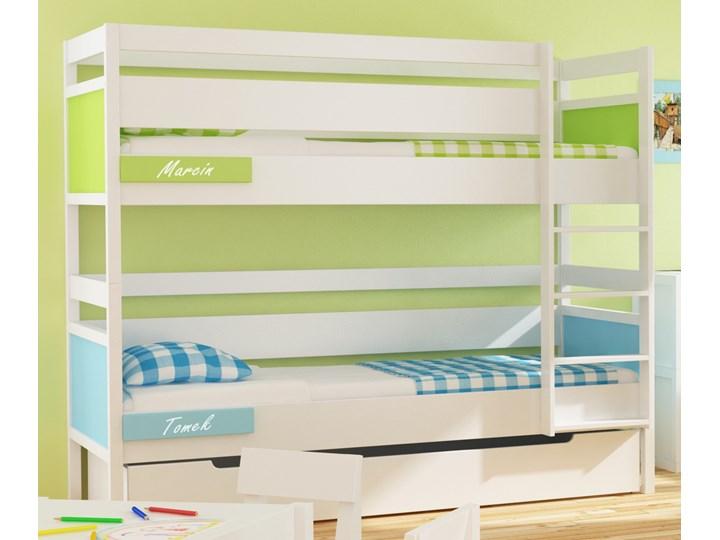 łóżko Piętrowe Duże Z Litego Drewna Easy Ze Stelażem