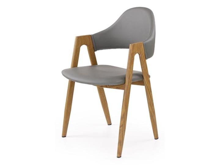 Krzesło na metalowym stelażu pokryte ekoskórą K247