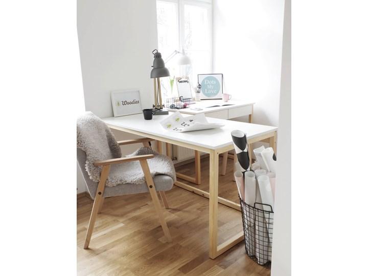 Nowoczesne biurko DES3 w stylu skandynawskim Szerokość 100 cm Sosna Głębokość 66 cm Drewno Kategoria Biurka
