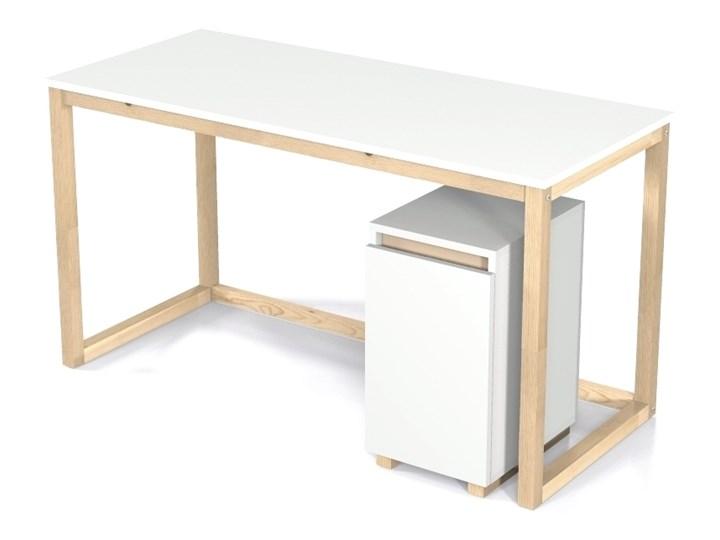 Nowoczesne biurko DES3 w stylu skandynawskim Sosna Szerokość 100 cm Drewno Głębokość 66 cm Styl Nowoczesny