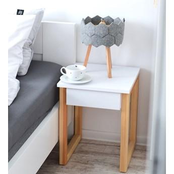 Stolik nocny z szufladą DES5/1 w stylu skandynawskim