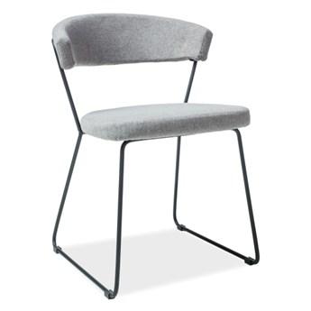 Tapicerowane krzesło na metalowych nogach Helix