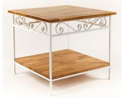 Stolik kawowy z półką w stylu industrialnym Alex 08