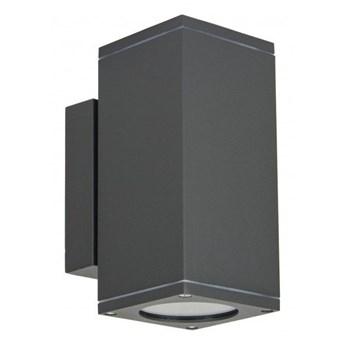 ADELA MIDI kinkiet 2 x 35W GU10 metalowy zewnętrzny lampa ścienna elewacyjna na balkon taras kwadratowy SUMA M1460 DG