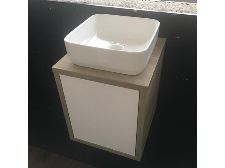 Szafka łazienkowa Z Blatem Pod Umywalkę Nablatową 45 Cm Craft Whitesandy Grey