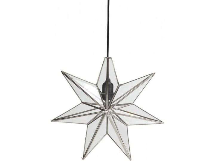 Lampa wisząca gwiazda srebrna 40 cm - PR Home