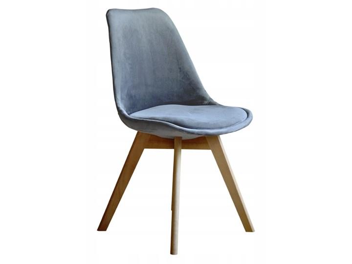 NOWOCZESNE KRZESŁO ART132C POPIEL WELUR #21 Pikowane Tworzywo sztuczne Krzesło inspirowane Drewno Tkanina Tapicerowane Kategoria Krzesła kuchenne