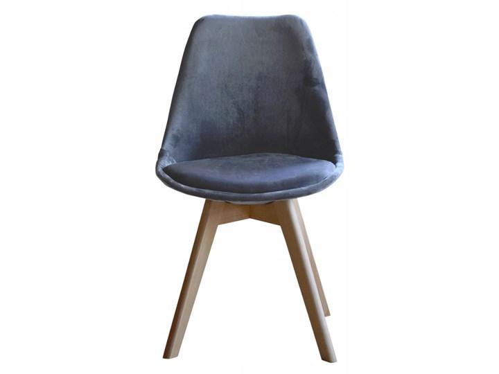 NOWOCZESNE KRZESŁO ART132C POPIEL WELUR #21 Drewno Pikowane Tapicerowane Tworzywo sztuczne Tkanina Krzesło inspirowane Pomieszczenie Jadalnia