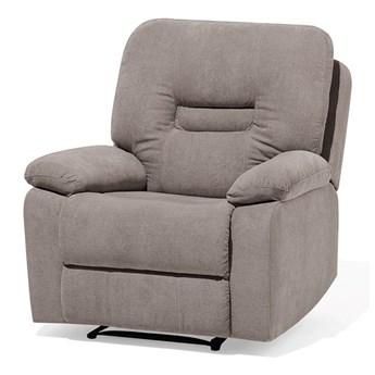 Rozkładany fotel telewizyjny brązowoszary z funkcją relaks salon duży pokój