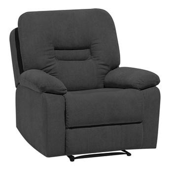 Rozkładany fotel telewizyjny ciemnoszary z funkcją relaks salon duży pokój